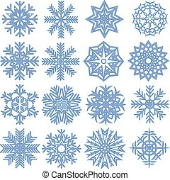 Collection of snowflakes. Vector illustration