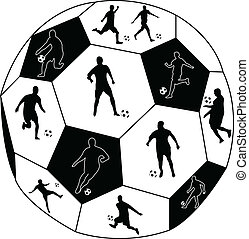 soccer players - Collection of soccer players silhouette -...