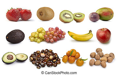 Collection of some fruits isolated