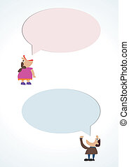 Collection of speech bubbles.