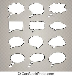Collection of speech bubbles, vector illustration
