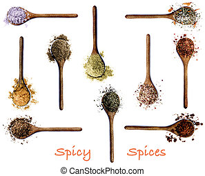 Collection of Spices with Inscription