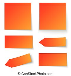 Collection of sticky notes red