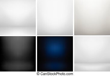 Collection of studio backgrounds.