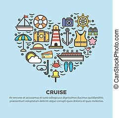Collection of summer logo symbolizing rest, seaside, sailing...