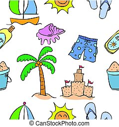 Collection of summer theme pattern style