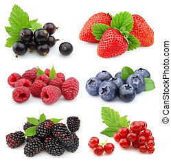 Collection of sweet berries - Sweet berries: strawberry,...