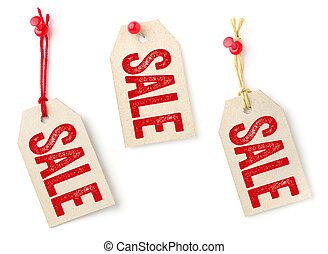 Collection of tags with the text Sale