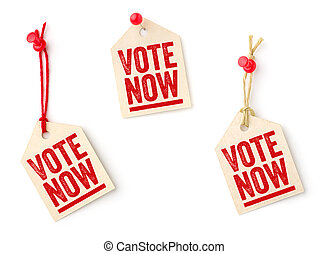 Collection of tags with the text Vote now