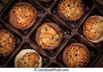 Collection of tasty cookies.