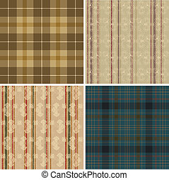 Collection of textile wallpapers