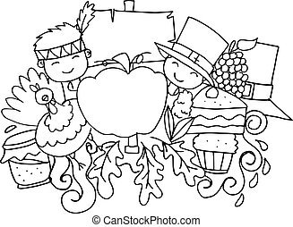 Collection of thanksgiving vector art