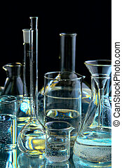 collection of the chemical flasks