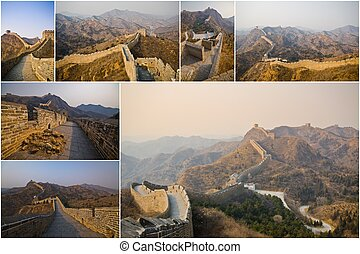 Collection of The Great wall of China, Jinshanling, known as...