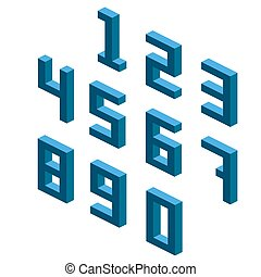 Collection of the isometric numbers, isometric grid 26.57 degree
