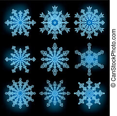 collection of the snowflakes