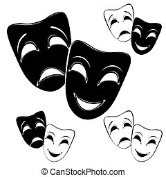 Collection of theater masks