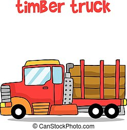 Collection of timber truck cartoon