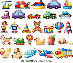 Collection of toys - Illustration of the collection of toys...