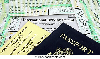 Collection of Travel Documents - Passport, International...