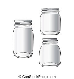 Collection of tree different doodle jars
