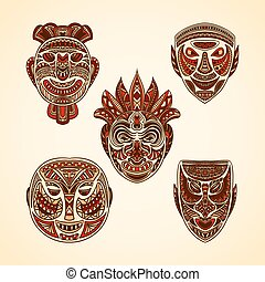 Collection of Tribal mask.
