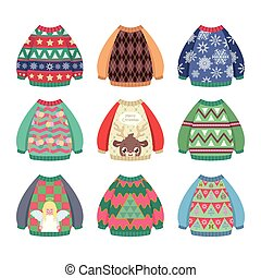 6731d51fc6 Collection of ugly colorful Christmas sweaters. Collection of ugly colorful Christmas  sweaters · cute sweater set