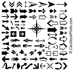 Collection of various arrows. A vector illustration