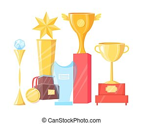 Collection of Various Awards Vector Illustration