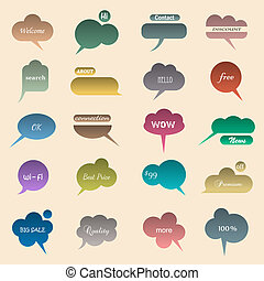 Collection of various bubbles for speech. Vector...