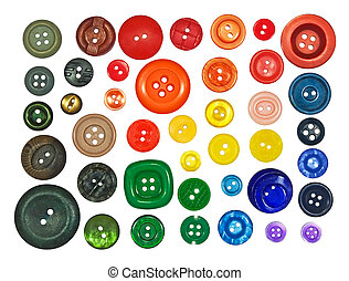 collection of various buttons