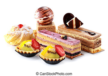 collection of various cakes