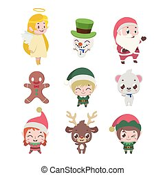 Collection of various Christmas characters