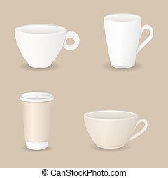 various coffee cups
