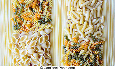 Collection of various pasta