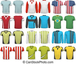 Collection of various shirts. Design template. The t--shirt ...