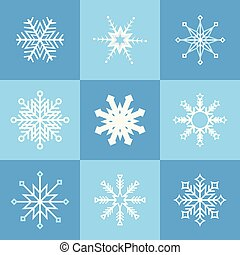 Collection of various snowflakes