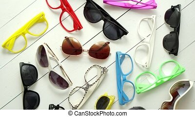Collection of various style and color sunglasses and frames ...