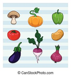 Collection of various vegetables