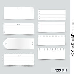 Collection of various white note papers, ready for your...