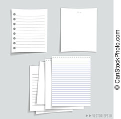 Collection of various white papers, ready for your message....