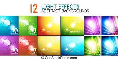Collection of vector abstract backgrounds