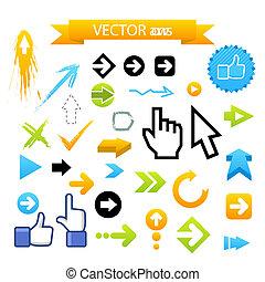 Collection of Vector Arrows.