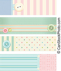 Collection of vector banners in retro style - Set of vector...