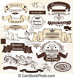 Collection of vector banners premium - Collection of...