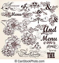 Collection of vector calligraphic - Vector set of ...