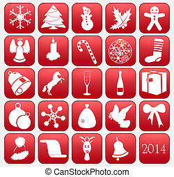 Collection of vector Christmas icons