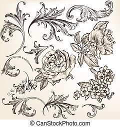 Collection of vector decorative