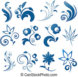Collection of vector design elements. EPS 8, AI, JPEG