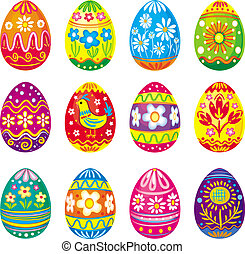 Collection of vector eggs